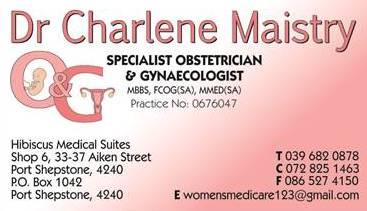Dr Charlene Maistry